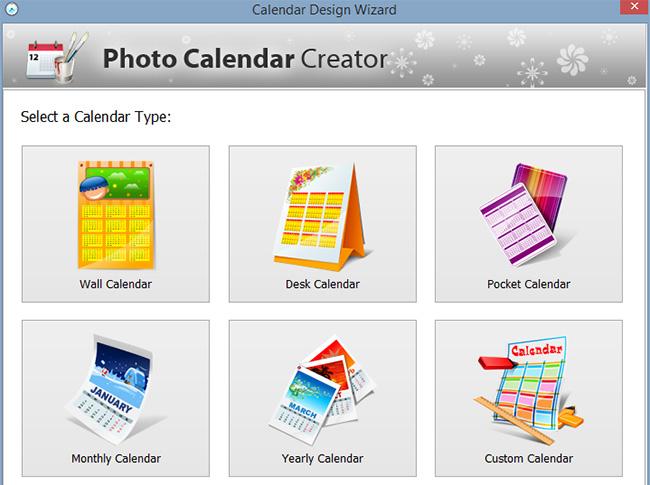 Calendar Design Software : Photo calendar creator pro