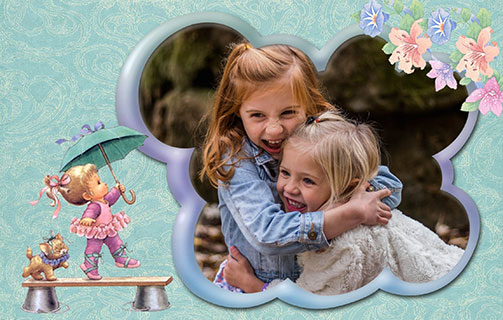 Children photo template