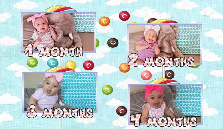 Month-by-month baby collage