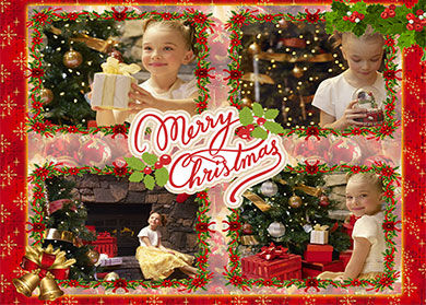 Christmas photo collages
