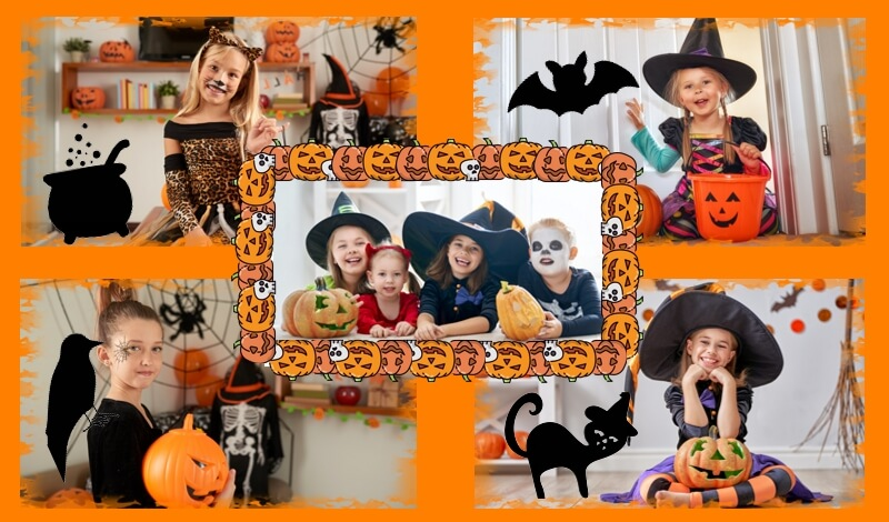 Halloween collage example