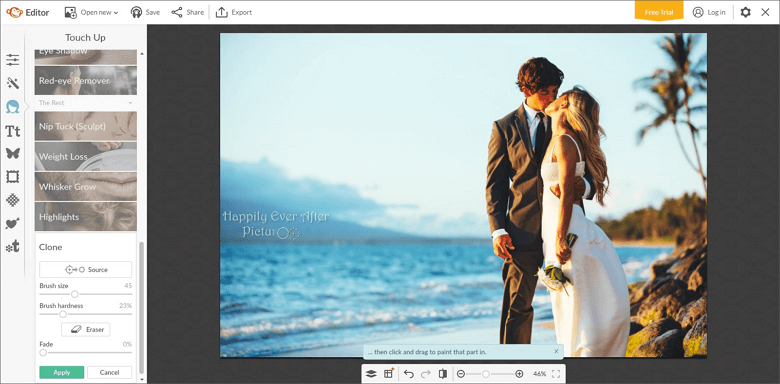 Remove watermarkf rom your picture with PicMonkey